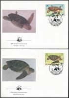 Turtles set 4 FDC, Teknősök sor 4 db FDC-n