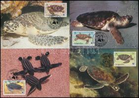 1983 WWF: Teknős sor Mi 541-544 4 db CM-en