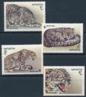 WWF: Snow leopard set + 4 FDC, WWF: Hópárduc sor + 4 db FDC-n