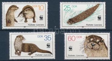 WWF: Otter set + 4 FDC WWF: Vidra sor + 4 db FDC-n