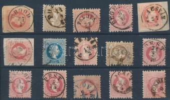 15 stamps with nice cancellations, 15 db bélyeg szép/ olvasható bélyegzésekkel