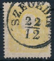 """2kr II. yellow ,,SZEGEDIN"""" (short perf.), 2kr II. sárga ,,SZEGEDIN"""" (rövid sarokfog)"""