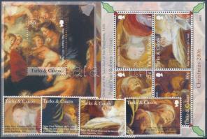 2006 Karácsony: Rubens festmények sor + kisív Mi 1824-1831 + blokk Mi 232
