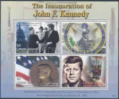 Kennedy mini sheet, Kennedy kisív
