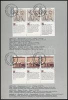 ienna, Geneva, New York Human Rights 3 sets in stripes of 3 on memorial sheet, Bécs, Genf, New York Emberi jogok 3 klf sor hármascsíkokban emléklapon