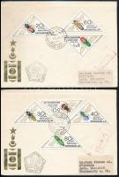Insects set on 2 FDCs Rovar sor 2 db FDC-n