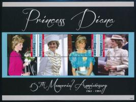 Princess Diana mini sheet set, Diana hercegnő kisívsor
