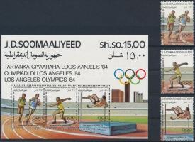 1984 Nyári Olimpia, Los Angeles sor Mi 353-355 + blokk Mi 15