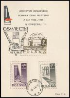 Auschwitz memorial card Auschwitz emléklap