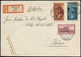 Registered cover to Czechoslovakia, Ajánlott levél Csehszlovákiába