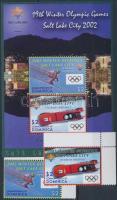 Winter Olympics, Salt Lake City corner set + block, Téli Olimpia, Salt Lake City ívsarki sor + blokk