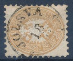 """15kr dull brown, horizontal seam watermark """"JOLSVA"""" Certificate:Steiner, 15kr fakó barna, vízszintes varratvizjel """"JOLSVA"""" Certificate:Steiner"""
