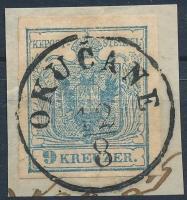 1850 9kr HP II. a OKUCANE Certificate: Ferchenbauer