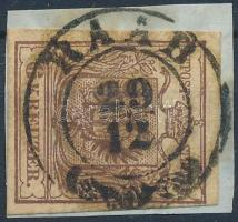 1850 6kr HP III. vörösesbarna RAAB Certificate: Babor
