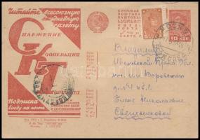 1933 Propaganda díjjegyes levelezőlap Mi P127 I/48