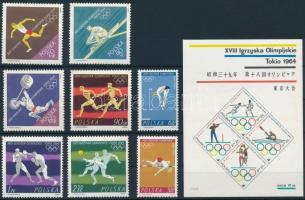 Summer Olympics, Tokyo set + block, Nyári Olimpia, Tokió sor + blokk