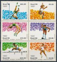 1984 Nyári Olimpia, Los Angeles sor 6-os tömbben Mi 2024-2029