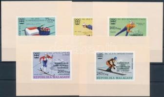 Olympic medalists imperforated set with overprint in blockform, Olimpiai érmesek vágott sor felülnyomással blokk formában
