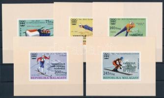 Olympic medalists imperforated set with overprinte in blockform, Olimpiai érmesek vágott sor felülnyomással blokk formában