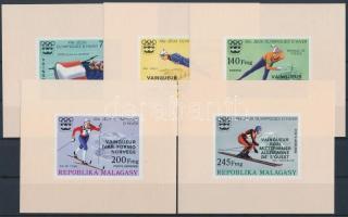 1976 Olimpiai érmesek vágott sor felülnyomással blokk formában Mi 802-806