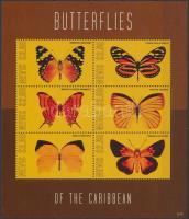 Butterfly mini sheet, Lepke kisív