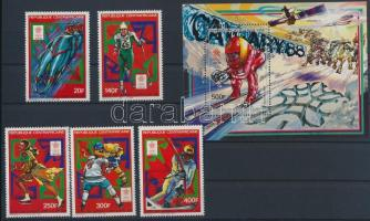Winter Olimpics, Calgary set + block Téli Olimpia, Calgary sor  + blokk