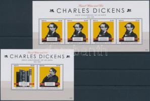 Charles Dickens mini sheet + block, 200 éve született Charles Dickens kisív + blokk