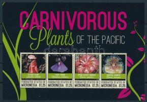 Húsevő növények kisív, Carnivorous plants mini sheet