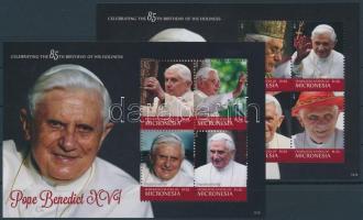 Pope Benedict XVI. minisheet-set, XVI. Benedek pápa kisívsor