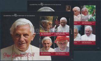 Pope Benedict XVI.mini sheet set, XVI. Benedek pápa kisívsor