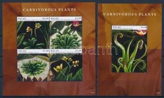 Carnivorous plants mini sheet + block, Húsevő növények kisív + blokk