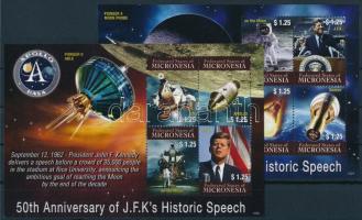 Kennedy minisheet Évfordulók, Kennedy, űrutazás kisívsor