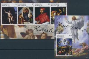 Raffaello paintings mini sheet + block, Raffaello festmények kisív + blokk