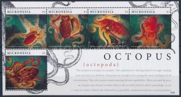 Sea animal, octopus mini sheet, Tengeri állat, polip kisív