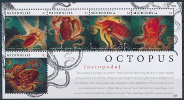 Octopus minisheet Tengeri állat, polip kisív
