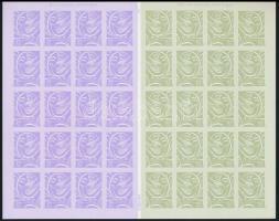 Wedding greetings stamps self-adhesive mini sheet, Esküvői üdvözlőbélyegek öntapadós kisív