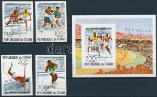 1976 Nyári Olimpia, Montreal vágott sor Mi 742-745 + vágott blokk 65