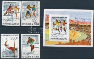 Summer Olympics, Montreal imperforated set + imperforated block, Nyári Olimpia, Montreal vágott sor + vágott blokk