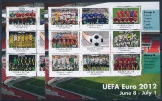 Football 2 mini sheets Labdarúgás 2 klf kisív