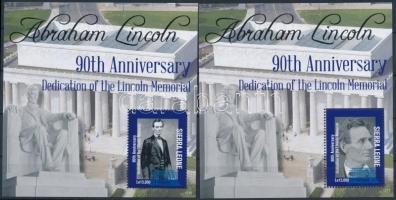 Abraham Lincoln minisheet + blockpair, Abraham Lincoln kisív + blokkpár