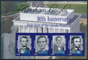 Abraham Lincoln minisheet + block pair Abraham Lincoln kisív  + blokkpár