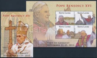 Pope Benedict XVI mini sheet + block XVI. Benedek pápa kisív  + blokk