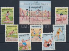 Summer Olimpics, Los Angeles (II.) set + block, Nyári Olimpia, Los Angeles (II.) sor Mi 568-574 + blokk 137