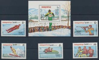 Winter Olympics Sarajevo (I) set + block Téli Olimpia, Szarajevó (I.) sor + blokk 132