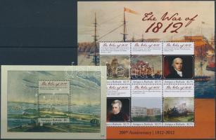 Centenary of the War of 1812 minisheet + block, Az 1812-es háború 100. évfordulója kisív + blokk