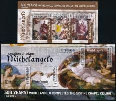 Michelangelo minisheetset Michelangelo festmények kisívsor