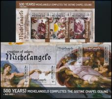 Michelangelo paintings mini sheet set, Michelangelo festmények kisívsor