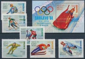 Winter Olympics, Sarajevo set + block Téli Olimpia, Szarajevó sor  + blokk
