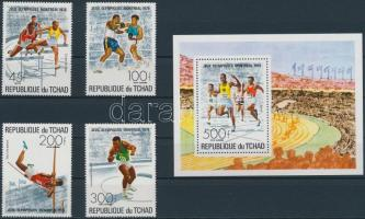1976 Nyári olimpia sor Mi 742-745 + blokk Mi 65