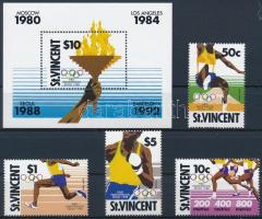 1988 Nyári olimpia sor Mi 1130-1133 + blokk Mi 60